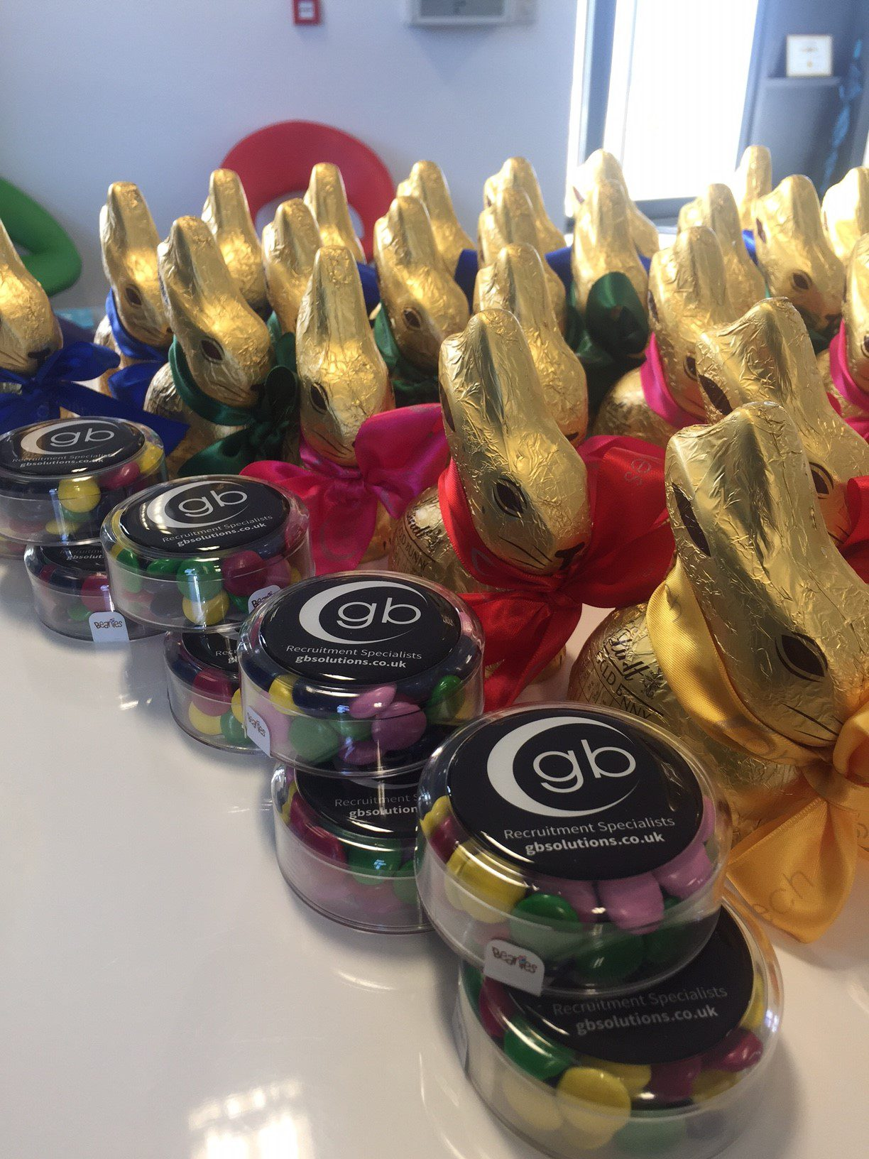 Easter promotional products branded chocolate pots