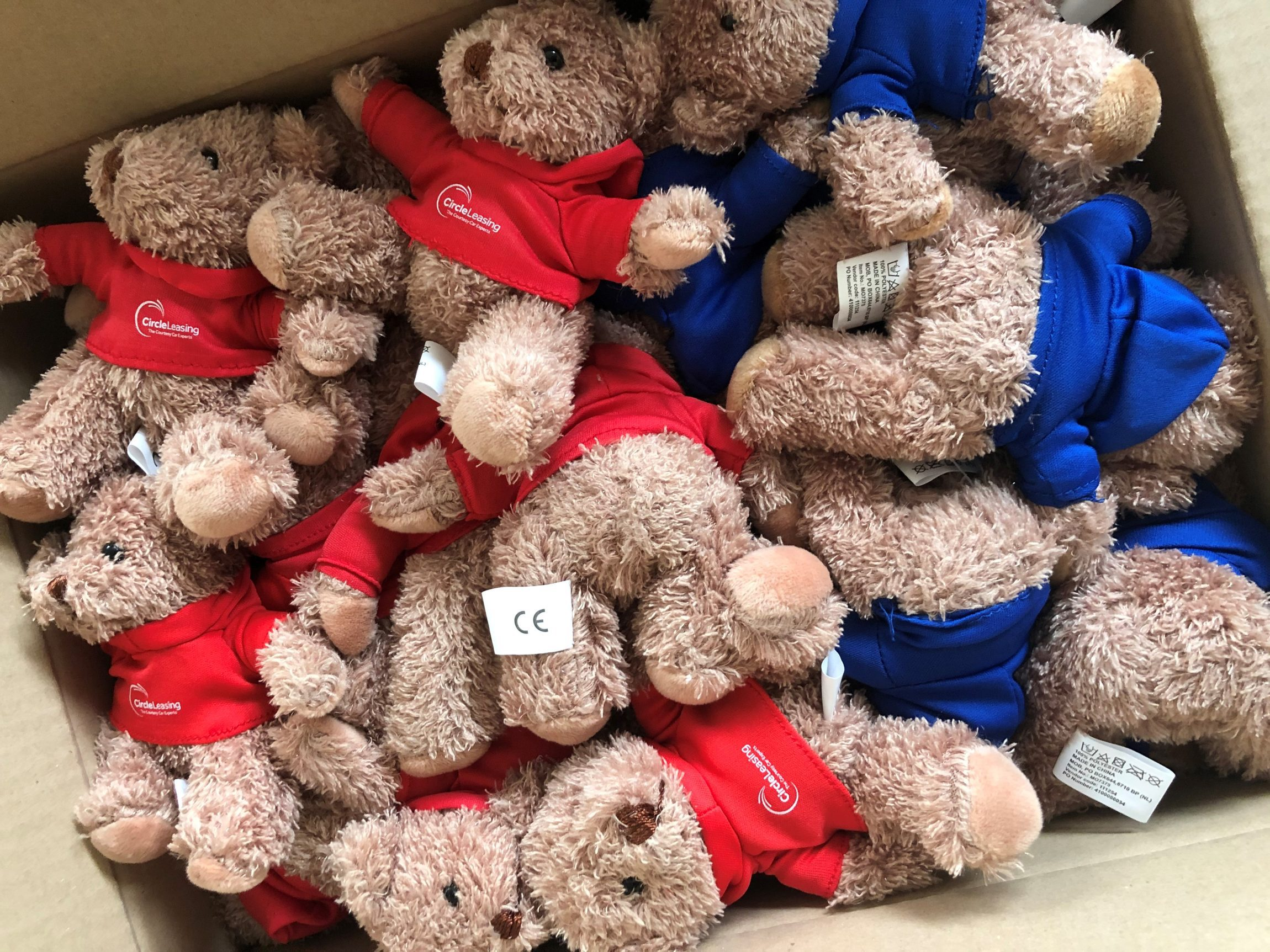 Teddy bears with company logo promotional merchandise, corporate gifts
