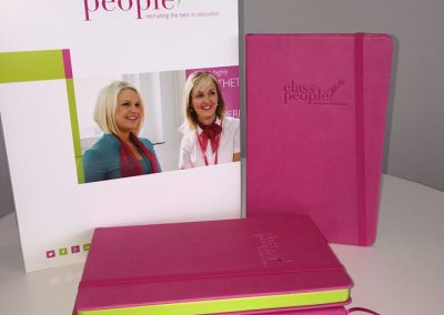Branded soft touch notebook