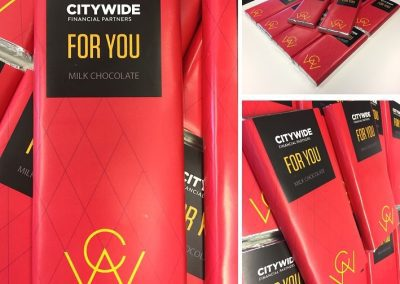 Branded promotional chocolate bars