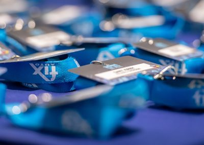 Branded lanyards with name cards