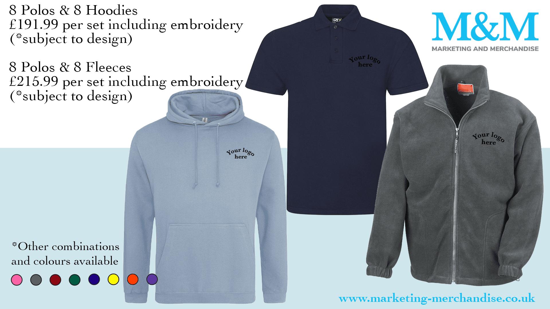 branded uniform shirts Marketing and Merchandise sweatshirts